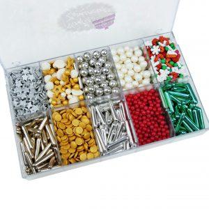 Nicoles Zuckerwerk Zuckerstreuselbox Aktionsbox Christmas offen