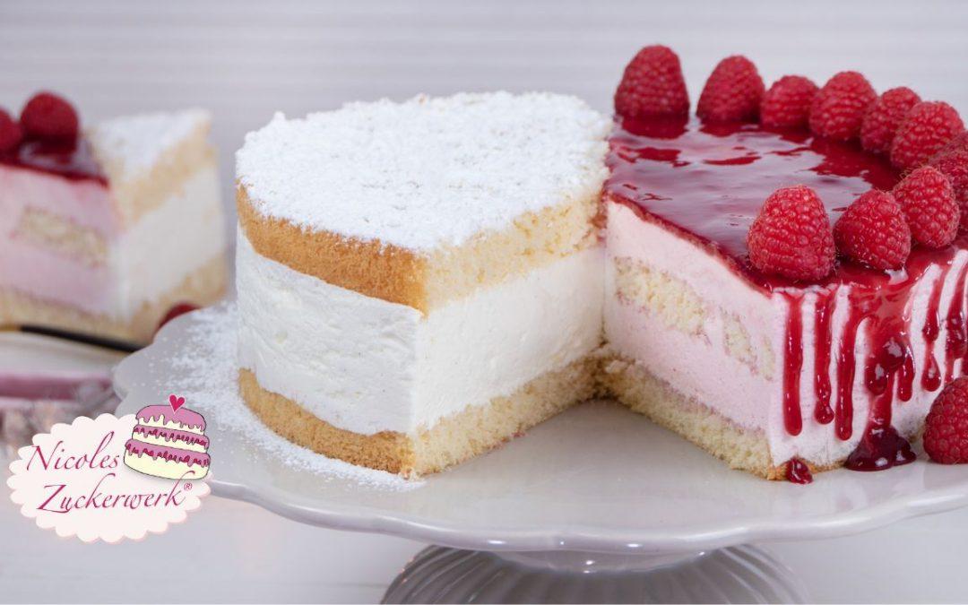Torten-Duo  2in1 Himbeer- und Käse-Sahne Torte