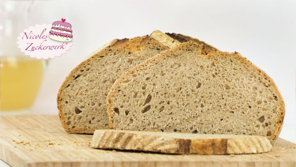 Knusper Brot mit wilder Hefe | backen mit Hefewasser