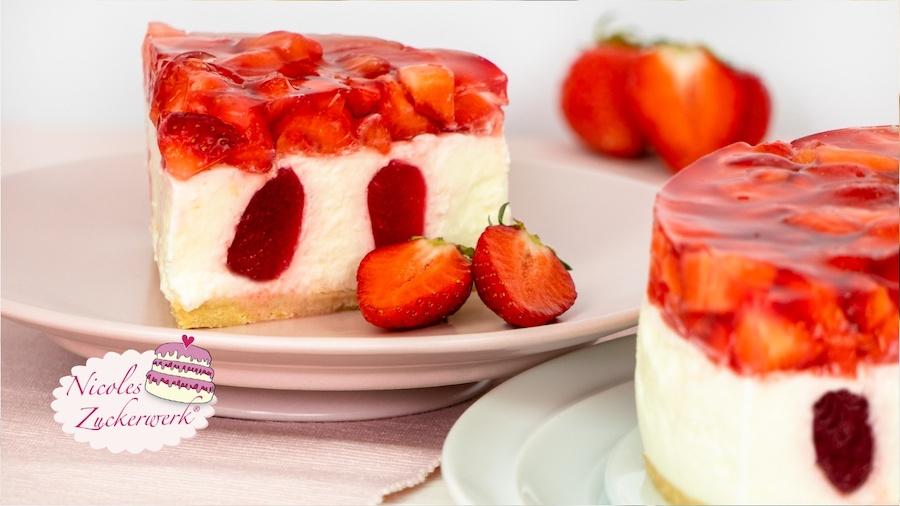 No Bake Erdbeer-Joghurt-Torte | sommerlich frisch, fruchtig & raffiniert zubereitet