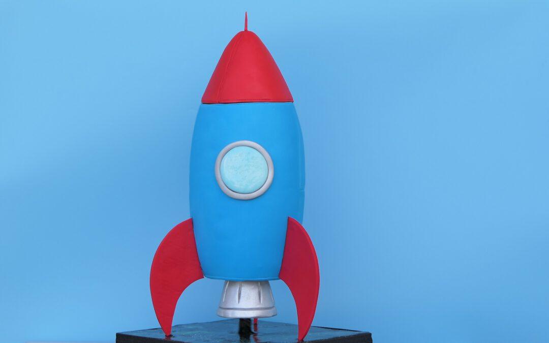 Raketen Motivtorte