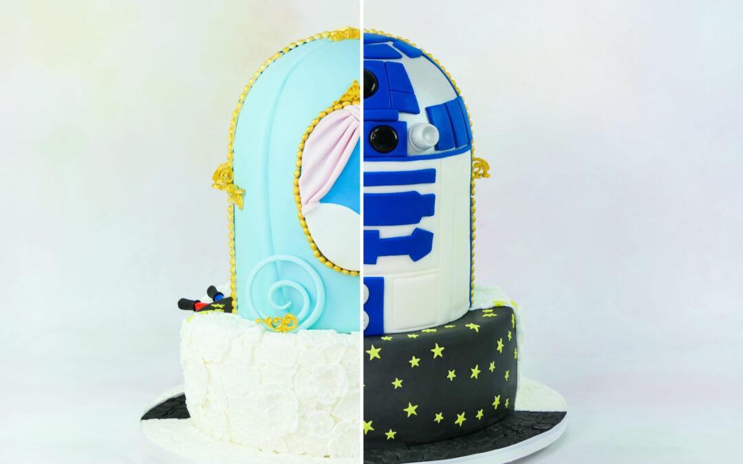Star Wars trifft auf Cinderella | die etwas andere Hochzeitstorte